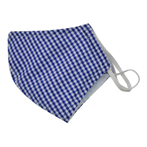 Busy Bee Kids Face Mask - Mini Blue Check
