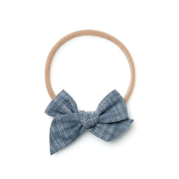 Mini Pinwheel Headband by Wunderkin - Chambray