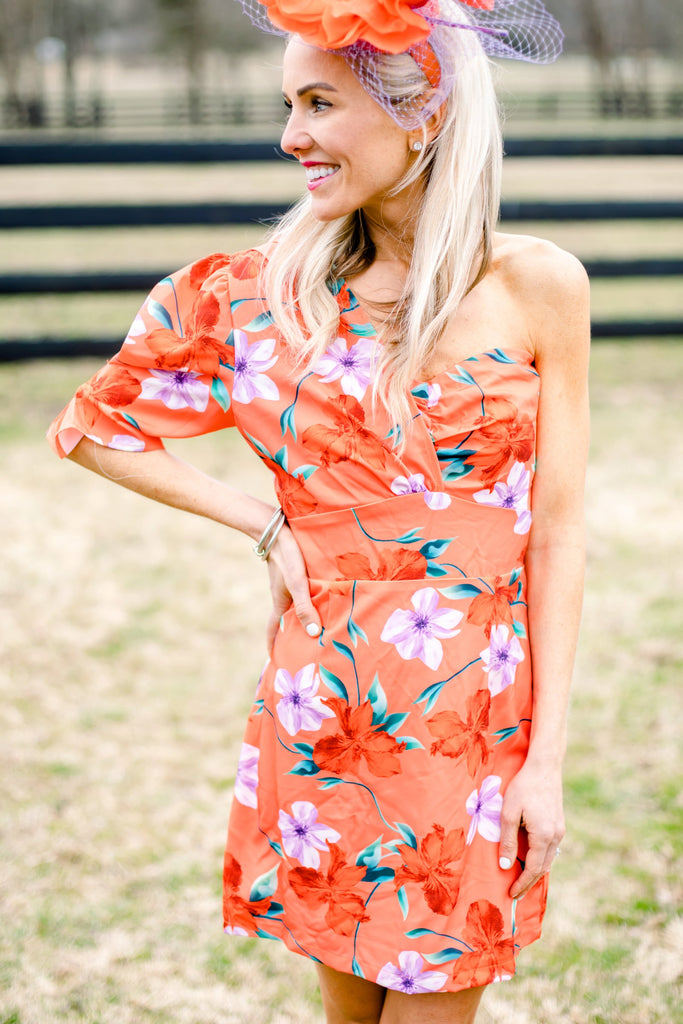 Fruity & Flirty Wrap Floral Dress