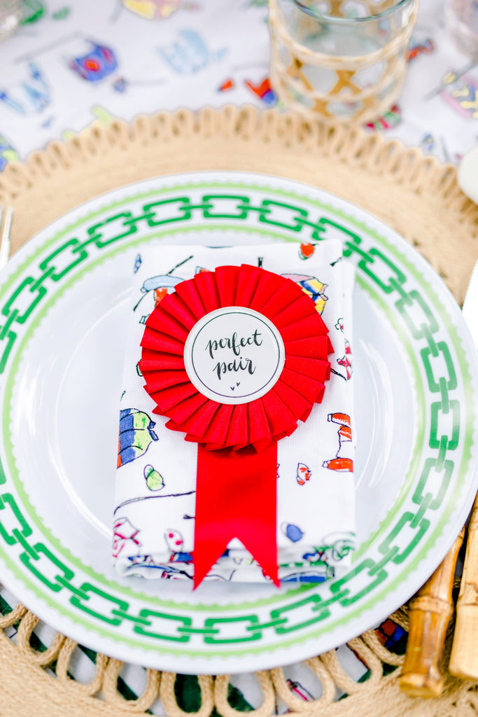 Single Rosette Ribbon - Perfect Pair