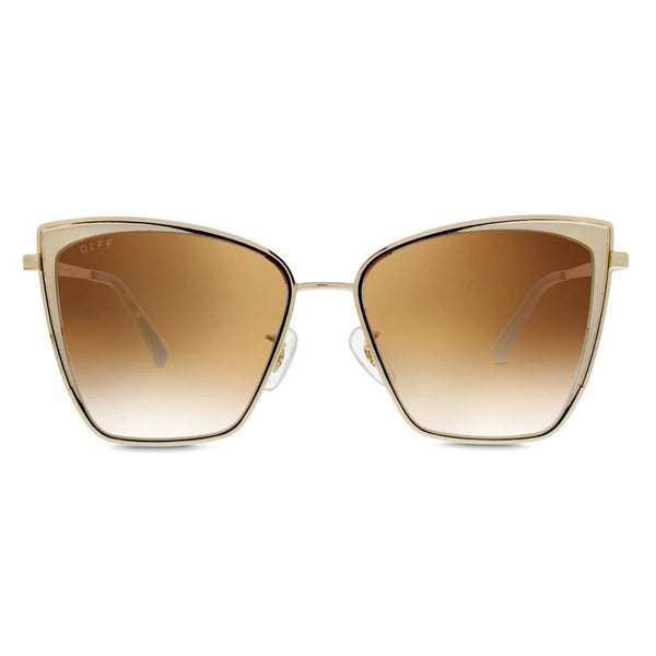 Diff Becky Sunglasses - Gold Flash Brown
