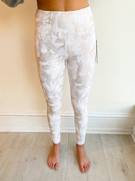 Camo Metallic Foil Leggings