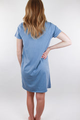 Kick Back T-shirt Dress - Periwinkle