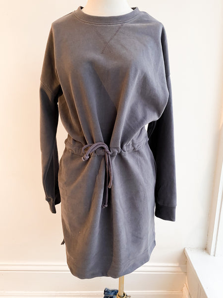 Ready for Spring Drawstring Dress - Charcoal