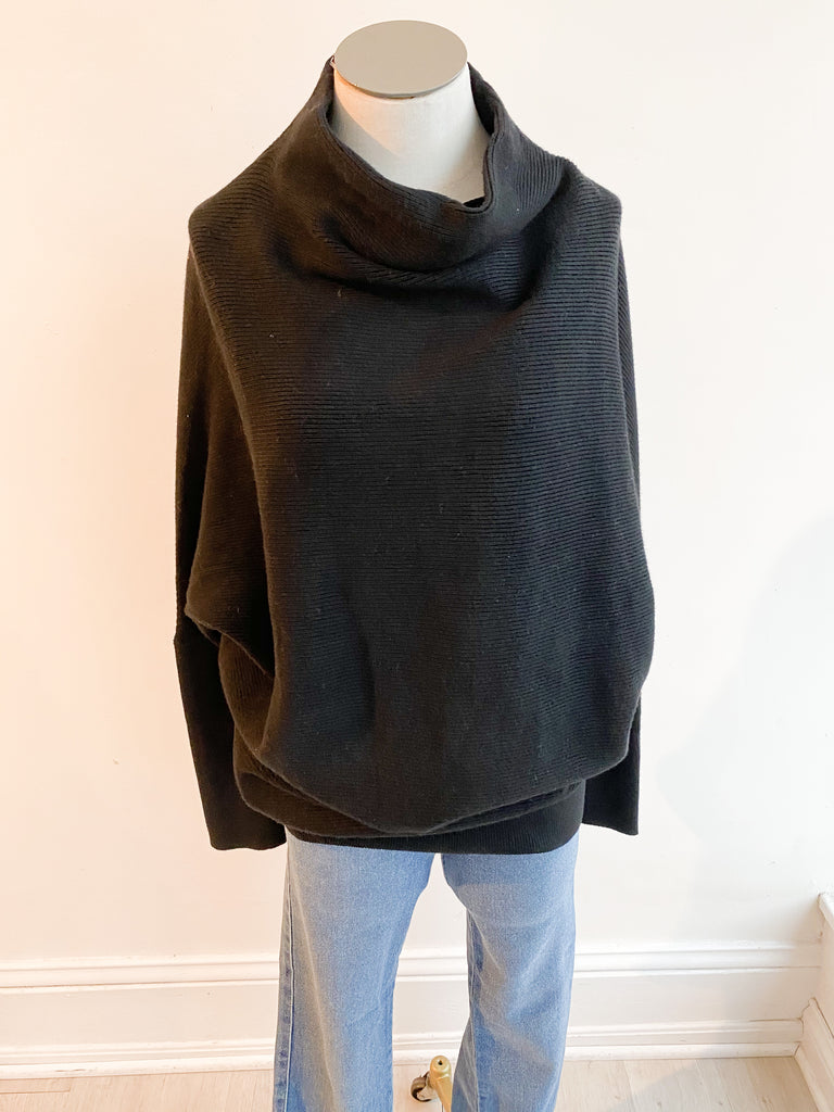 Once Again Dolman Sweater - Black