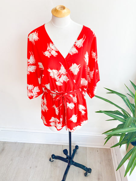 Sunday Brunch Tie Front Romper