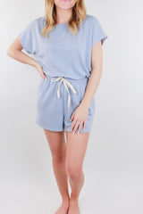 Recognize Tie Boatneck Romper