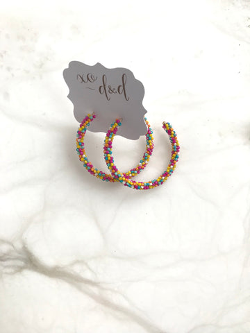 Sprinkles Hoop Earrings