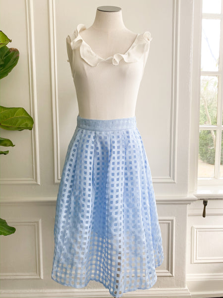 Spring is Calling Grid Skirt