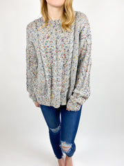 Rainy Spring Confetti Sweater