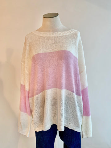 Sophie Stripe Sweater - Orchid