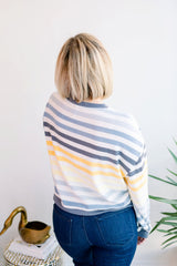 The Oasis Blue Stripe Pullover
