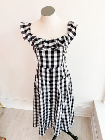 Elbie Gingham Midi Dress