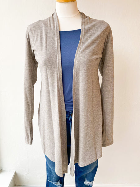 The Lightweight Natalie Cardigan - Heather Grey