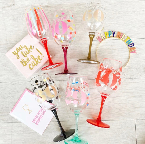 Acrylic Wine Glass Birthday