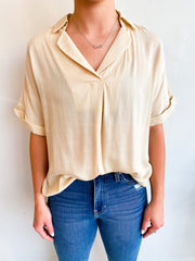 All Natural Collar Top