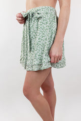 Together Again Floral Tie Skirt