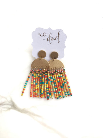 Fame Drop Beaded Earrings