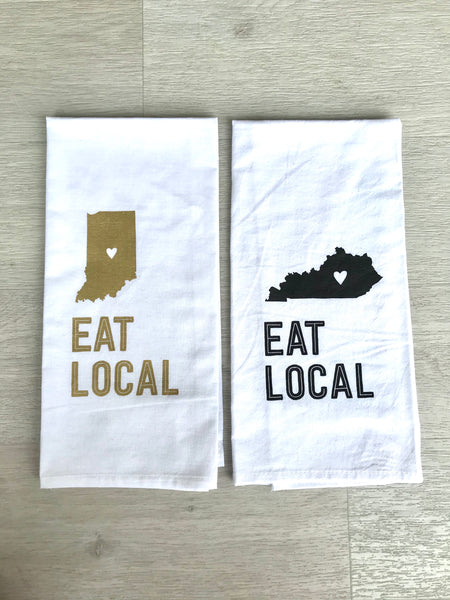 Tea Towel - Eat Local