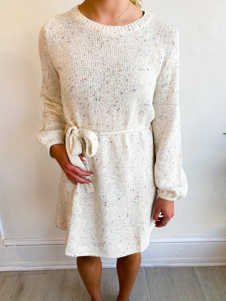 Funfetti Sprinkle Sweater Dress