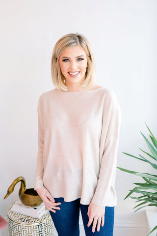 Perfect Weather Lightweight Sweater - Beige