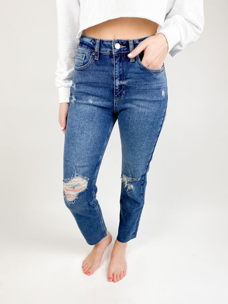 Rory High Rise Destroyed Jeans