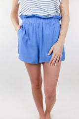 Marine Life Gathered Waist Shorts