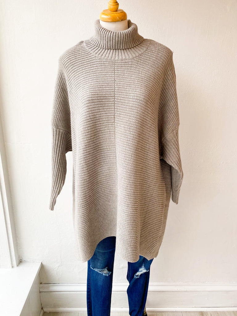 The Sweater Cowl Neck Sweater - Grey