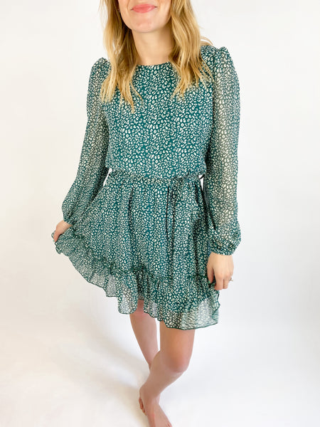 Indecisive Floral Print Dress - Green