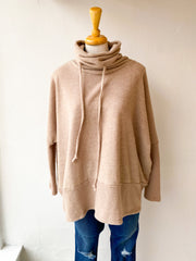 To Love Again Oversized Top - Taupe