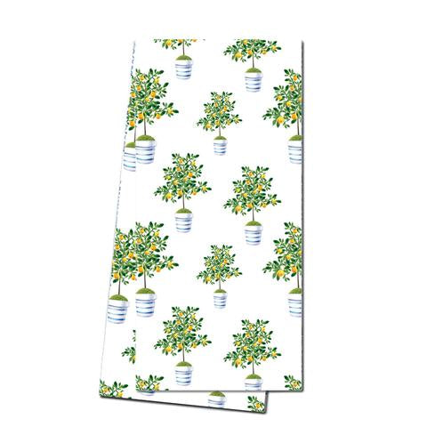 Cotton Tea Towel - Lemon Tree