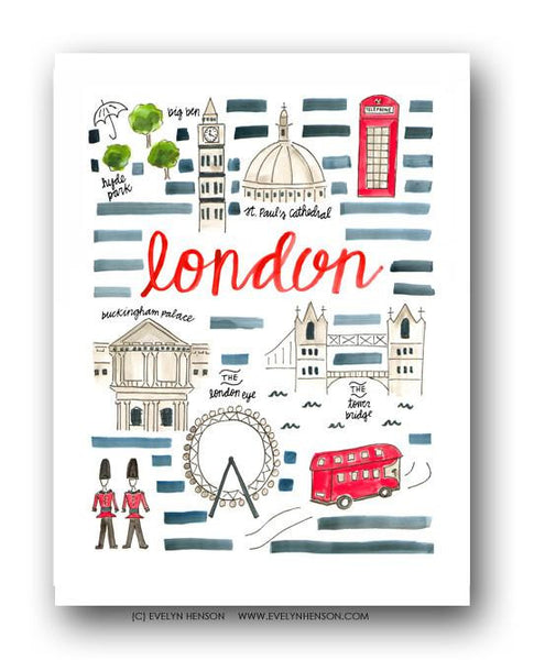 Evelyn Henson City Map Prints - London