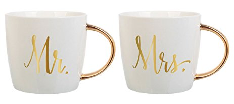 Mr & Mrs. Ceramic Mug Set