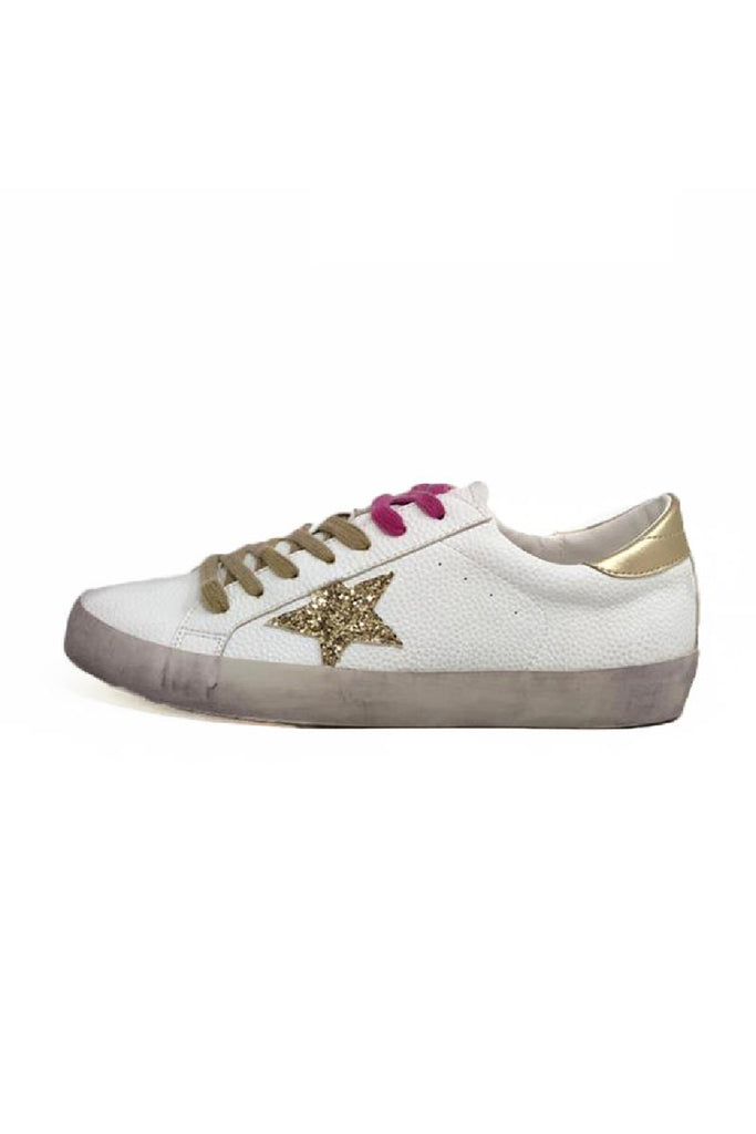 Rockstar Star Sneakers - White/Pink/Gold