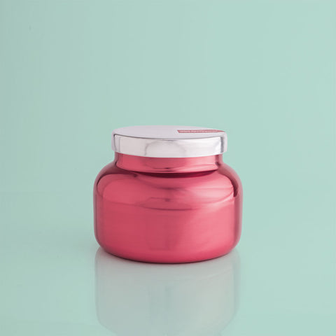 Holiday Metallic Jar Candle - Pink Peppermint