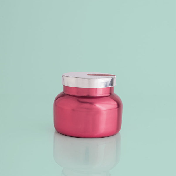 Holiday Metallic 8 oz Candle - Pink Peppermint