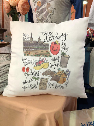 KY Derby Pillow
