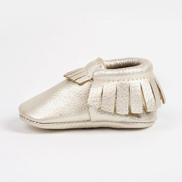Luxe Moccasins by Freshly Picked - Platinum