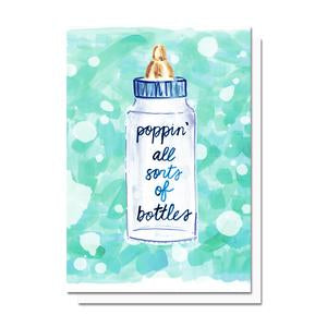 Evelyn Henson Poppin Bottles Card