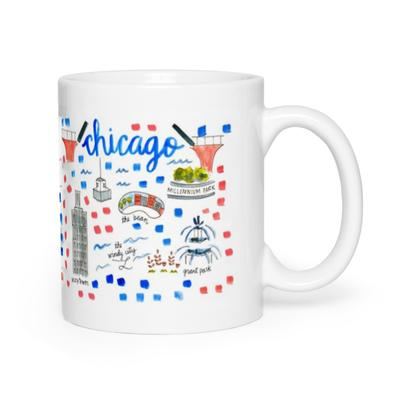 Evelyn Henson Map Mug - Chicago