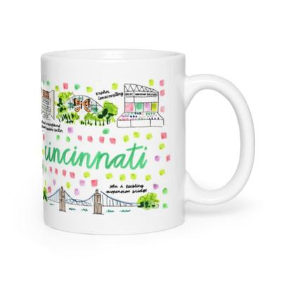 Evelyn Henson Map Mug - Cincinnati