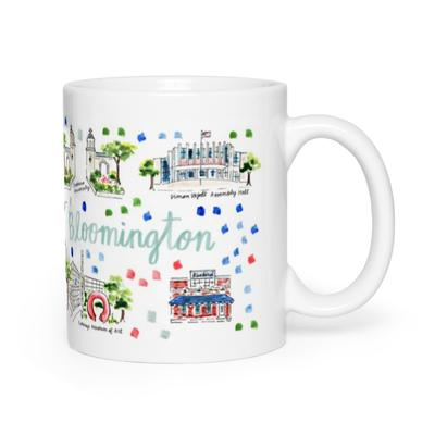 Evelyn Henson Map Mug - Bloomington