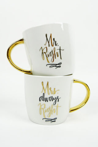 Mr. & Mrs. Right Mug