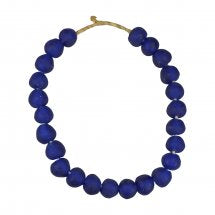 Recycled Glass Bead Blue