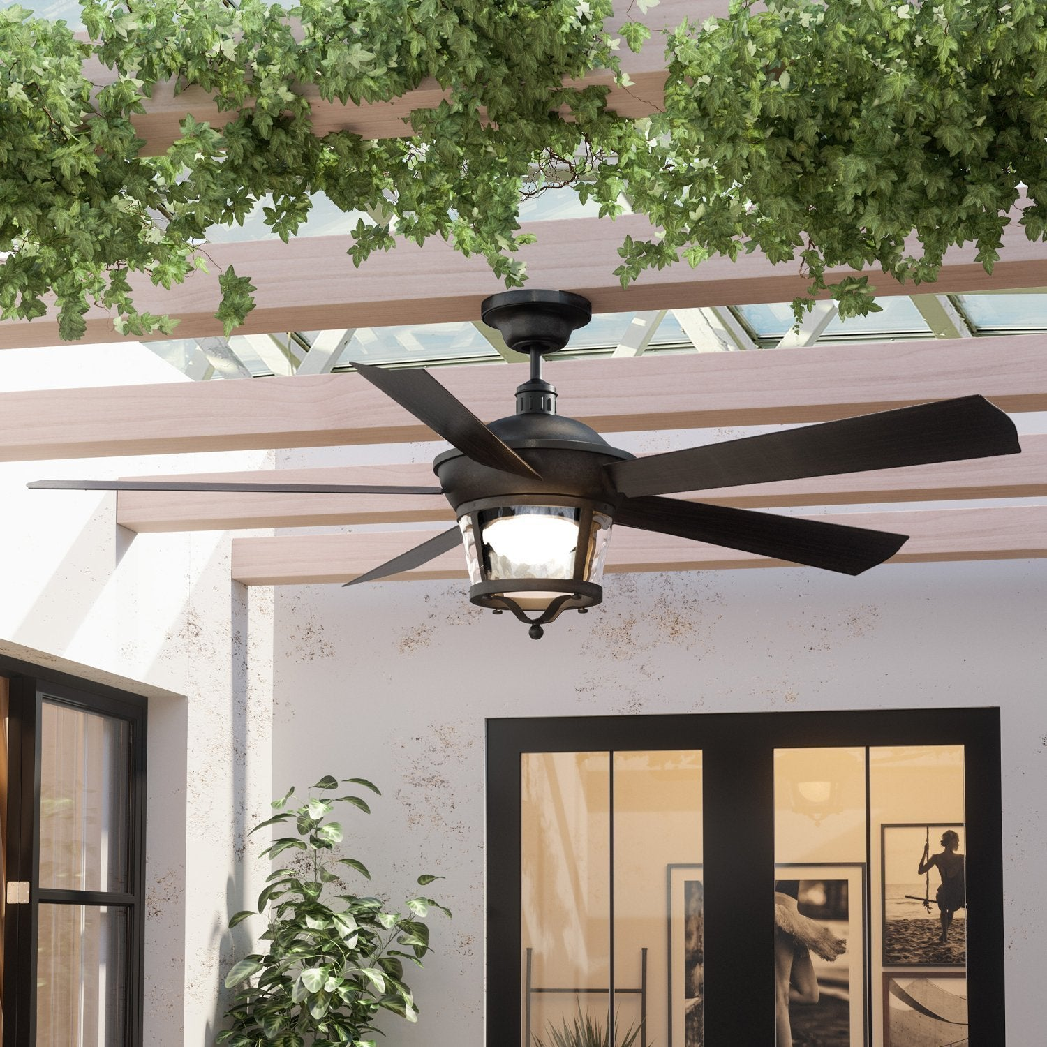 Uhp9181 Modern Farmhouse Indoor Or Outdoor Ceiling Fan 19 5 H X 52 W