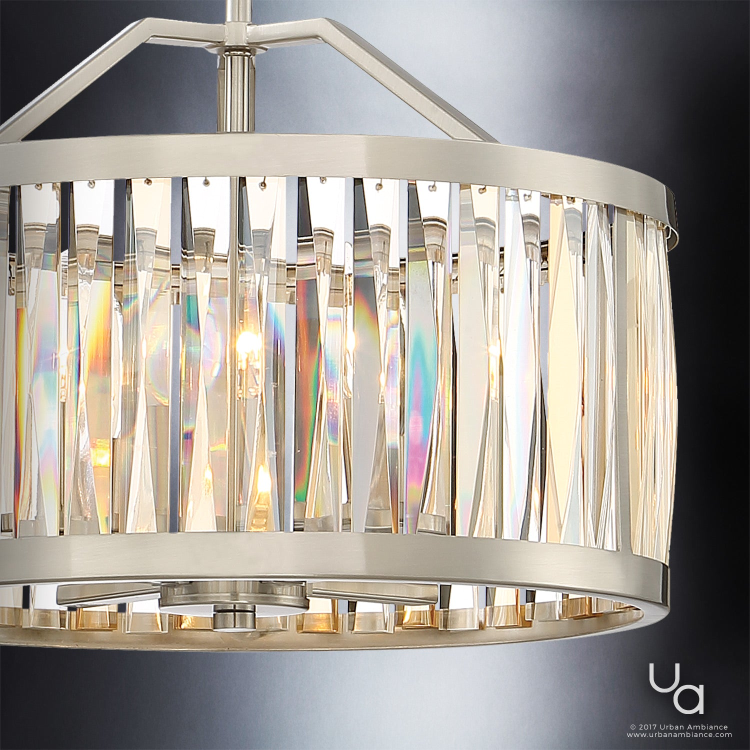 """China Kitchen St Pete: UQL2570 Crystal Chandelier / Ceiling Fixture, 12.25""""H X 16"""
