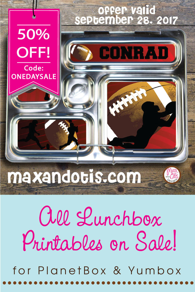 ONE DAY ONLY SALE! 50% OFF ALL LUNCHBOX PRINTABLES!