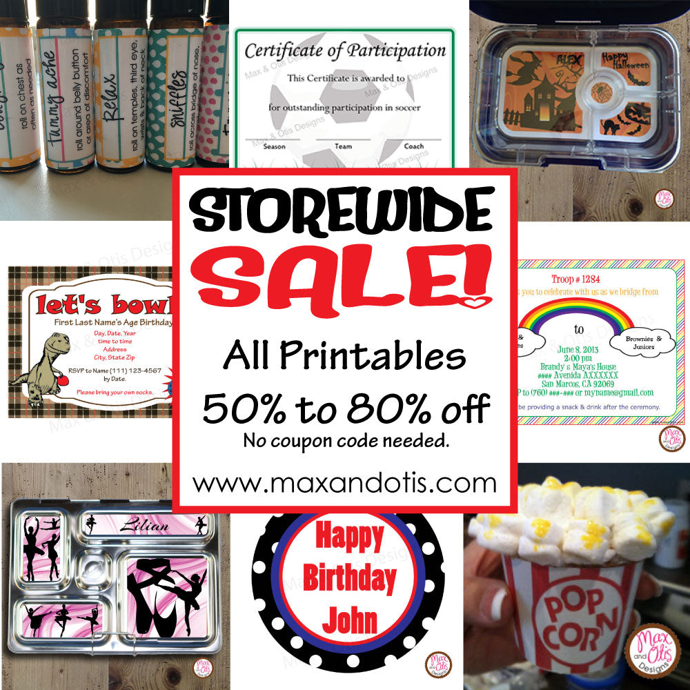 Storewide Printables Sale!