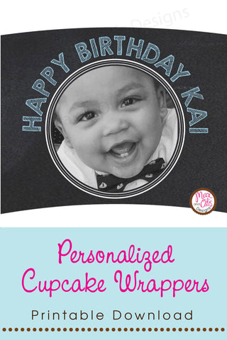Custom Photo Printable Cupcake Wrapper