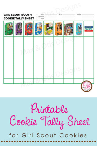 picture regarding Girl Scout Cookies Order Form Printable named Its Lady Scout Cookie Time! Max Otis Patterns